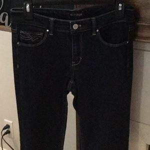White House Black market blanc Jeans rhinestones